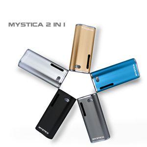 Original Airis Mystica 2 Em 1 VV Kit Vaporizador de Cera De Petróleo Starter Kits de Caixa de 650 mAh Mod Mini Vape Dupla Atol ...