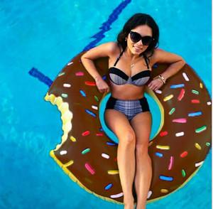 120 centimetri di galleggiamento ciambella anello di nuoto 48 pollici Gigantic Donut Piscina galleggiante gonfiabile di anello di nuoto per adulti Pool Galleggianti