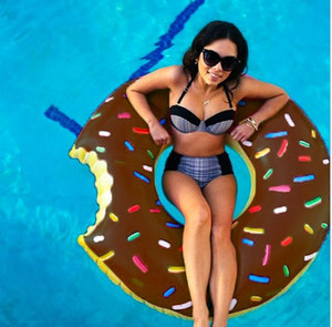 Flutuar natação Donut Floating Anel 48 Inch natação piscina carros alegóricos 120 centímetros inflável gigantesco anel Adulto Donut Frtgt