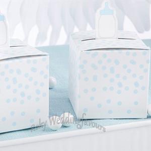 Frete Grátis! 12 PCS Caixas de Favor de Mamadeira Do Bebê Chuveiro Do Bebê Caixas de Bombons Fontes Do Partido 1o Aniversário Festa de Doces Caixa de Decoração Idéias