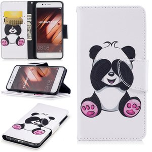 New Book cover Case For Huawei P10 P10 Lite 3D panda butterfly cartoon leather cover for huawei P9 P9 Lite P8 Lite 2017