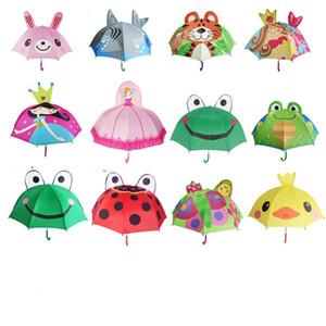 Cartoon Animal Orecchio Designer ombrello manico lungo 3D Parasole Soleggiato Piovoso Ombrelli per il regalo Bambini Coniglio Tiger principessa sirena Frog 15sx KK