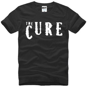 New Summer The Cure T Shirts Hommes Coton À Manches Courtes O-Neck Imprimé Rock Roll T-Shirt Pour Hommes De Mode Mâle Rock Punk Tops Tees Hot