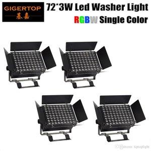 Stage Light TIPTOP 4XLOT 72x3W Single Color DMX RGBW LED Wall Washer ad alta potenza Rosso chiaro Bianco Blu Bianco Stand Alone / DMX