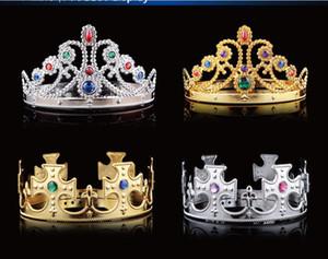 Tire príncipe princesa festa de anos Crowns Eco-friendly Rei Fashion Party Rainha Crown Hats Hat Ouro Prata 2 cores da OPP Sacos