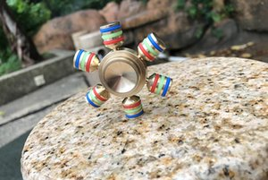 CKF Brass Hexagonal Fidget Spinner Hexa-spinner EDS Anti-stress Rotation Metal Spinners Cooper Fidget Spinner Decompression Novelty Toy