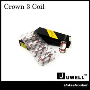 -Bueno auténtica corona 3 bobinas para reemplazar 0.25ohm 0.5ohm SUS316 paralelo Bobinas Jefe del Crown III Sub ohmios tanque original del 100%