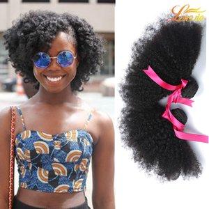Fabrik 7A Peruanische Malaysische Menschliche Haarwebart Erweiterung Brasilianische Reine Menschliche Afro Schuss 3 Bundles Unverarbeitete Indische Afro Haar Weave Bundle