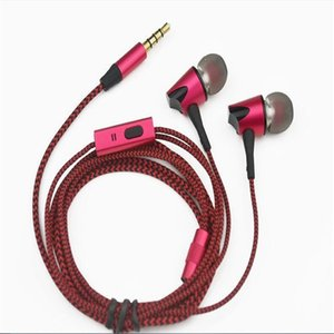 2017 new moving metal 3.5mm rose red in ear music headphones with microphone for universal mobile phone computer