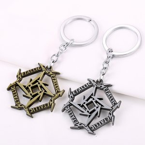 Hot Sale New Jewery Key Chain Metallica Logo Letter Key Ring Metal Alloy Keychain 10pcs lot 2 Colors Free Shipping