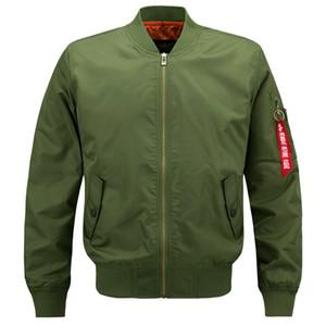 Plus Size Bomber Jacket vôo Piloto Jackets Mens Casual Voar Coats Long Sleeve Slim Fit Roupa Militar Força Aérea bordado QUENTE
