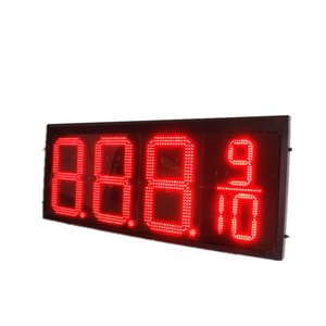 12inches Gas Station Price Sign outdoor LED signs red green blue white single color digits 8.888 8.889 10 with RF remote
