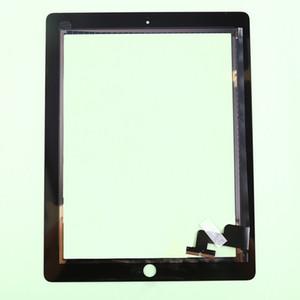 Vidro dianteiro original para o painel de toque do cabo do cabo flexível do digitador da tela de toque do iPad 2 3 com conjunto home do botão com adesivo
