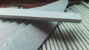 "Wholesale- Diamond Grey  Nail Files - (50pcs) Professional Acrylic Nail File 180/180 Grit Zebra Sanding Files 7"" NEW"