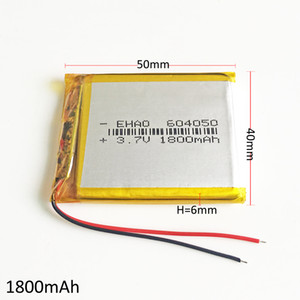 نموذج 604050 1800 مللي أمبير 3.7 فولت يبو ليثيوم بوليمر بطارية قابلة للشحن ل diy dvd الوسادة mid الهاتف الخليوي gps قوة البنك كاميرا الكتب