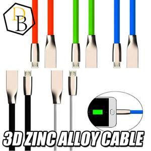 Micro USB Câbles 1 M 3ft Diamant En Forme de Diamant Alliage De Zinc Plug Charge Sync Données Câble de Charge Pour Android Samsung s6 s7 HTC 100pcs