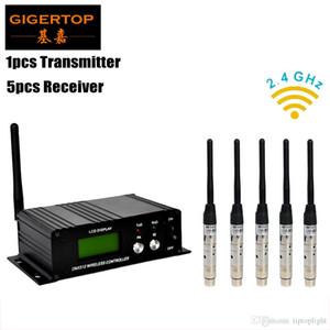 2.4Ghz 단계 빛 DMX 무선 전송기/수신기 DMX 관제사 1pcs 전송기+5pcs 수신기 무선 dmx 관제사 TP-D26