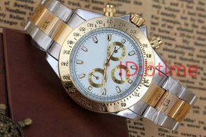 New Mens Watch automatique Mouvement mécanique vent Big Black Gold Stainless Steel Gent Montres de mâle d'argent Hommes Montres-bracelets