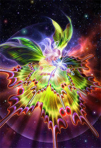 5D Алмаз вышивка рукоделие diy Алмаз живопись вышивки крестом мультфильм наборы бабочка Фея полный круглый Алмаз мозаика Декор комнаты y0063