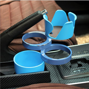 2017 Novo Design 5 em 1 Multi Cup Car Holder Stander rotativa móvel Drink Telefone óculos escuros titular Car Styling