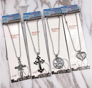 .Men's Classic Students gift More style Mens Chains Vintage Latin Christian Cross Pendants Necklaces 171