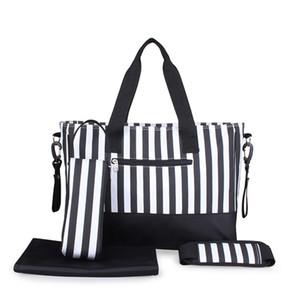 도매 - 새로운 도착 5PCS / 설정 대용량 여성 엄마는 가방 아기 기저귀 기저귀 가방 여행 수하물 핸드백 변경