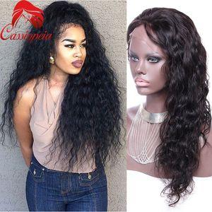 Vague de corps sans lacet avant de style dentelle perruque brésilien vierge de cheveux humains 8 a pleine perruque de dentelle avec des cheveux de bébé pour les femmes noires grand escompte