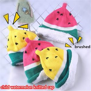 Bebés encantadores sombreros en forma de sandía sombreros para niños sombreros para niños crochet lindo Bebé Niños de punto Winter Warmer cap kid404