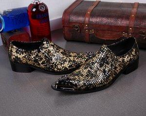 Erkek Ayakkabı Moda Demir Kafa Tasarımcı Gerçek Deri Ayakkabı İş Örgün Erkek Düğün Ayakkabıları Sosyal