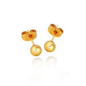 2016 جديدة وصول أزياء أقراط أنيقة من الذهب/الفضة دائرة هندسية الكرة الذهبية عشيق الأذن للمرأة بيجو