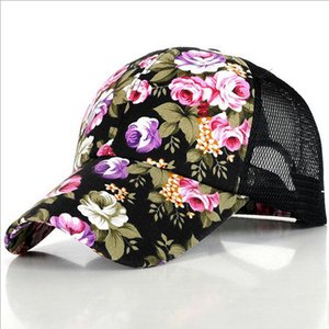 2017 O novo floral feminino chapéu boné de beisebol de malha primavera e verão esportes e lazer pala de sol chapéu de sol snapback cap