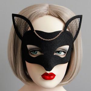 Animal Fox Половина лица МАСКИ женщина маски Halloween Хост Банкет филигрань Masquerade Mask / Таинственная маска партии
