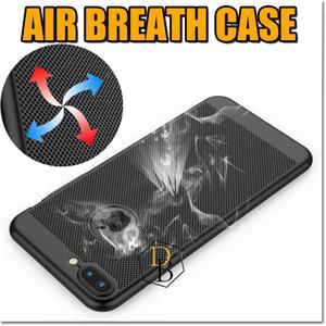 Para iphone x xr xs max caso respirável dissipação de calor slim phone protector pc colorido matagal toque suave tampa do telefone para samsung s8