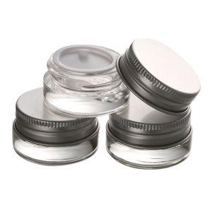 Pot de crème en verre de haute qualité 5g avec couvercle en aluminium, récipient pour cosmétique à large bouche 5ML, emballage cosmétique pour les yeux