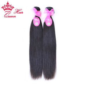 """Queen Hair Products 8 '' - 28 """"2 шт. / Лот Девы Бразильцы Натуральные прямые волосы Человеческие Волосы Плетение Оптал, Без провала"""