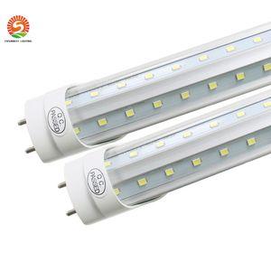 T8 LED Tube Light g13 2 pin 8ft 6FT 5FT 4FT 1.2M-2.4m LED V Shape Double Glow Light For cooler door