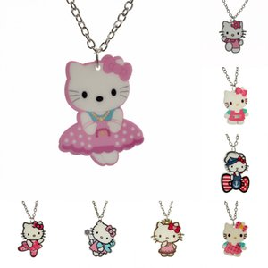 "Wholesale- [$5 Minimum]2016 New Fashion Girls Kids Gift Jewelry Cute Lovely Cat Pendant 16"" Short Chain Necklace Free Shipping KS182"