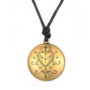 5 ADET Altın Gümüş Ezili Freda Voodoo Loa Veve Kolye El Damgalı Vodoun Lwa Aşk Tılsım Takı Hoodoo Muska Kolye