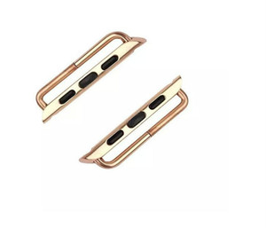 Gold Silver Stainless Steel Watch Band Connectors Adapter For 38mm 42mm For Apple Watch Bands 50pcs per lot