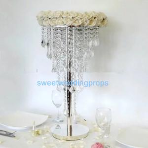 уникальные акриловые вазы венчания centerpiece, события партии очаровывая декор для цветков, высокорослые вазы для шариков свежих цветов
