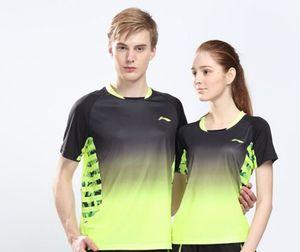 Li-Ning Hombres Mujeres Profesionales bádminton camisas de secado rápido de nuevo Li Ning transpirable camiseta deportiva atlética camiseta, camisa del tenis de mesa AAYK128