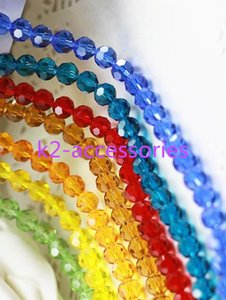 AB Multicolour FACETED BALL crystal glass loose beads faceted 6MM NEcklace bracelet colors jewelry making