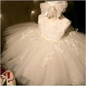 자수 레이스 키즈 웨딩 드레스 공주 투투 드레스 아기 걸스 First Birthday Party Gown Costume 5 색