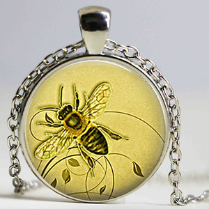عسل النحل النحل كابوشون الزجاج كيرينغ عسل النحل مجوهرات النحال هدية المنحل هدية عسل النحل مفتاح سلسلة