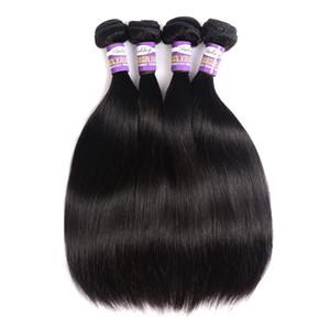 Gerade mongolische Silky Virgin Hair 3 oder 4 Bundles 9a Natural Black Gerade Günstige mongolische Remy Menschenhaar-Webart-Verlängerungen 10 28 Zoll