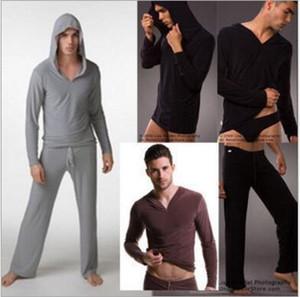 도매 무료 배송 N2N 요가 착용 망 섹시한 잠옷 남성 로브 Masculino 요가 셔츠 캐쥬얼 착용 후드 티 실크 폴리 에스터