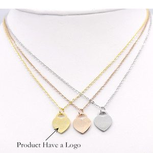 Stainless Steel Love Heart Pendant Necklaces For Women Gold Rose Gold Silver Plated Titanium Heart necklace Jewelry