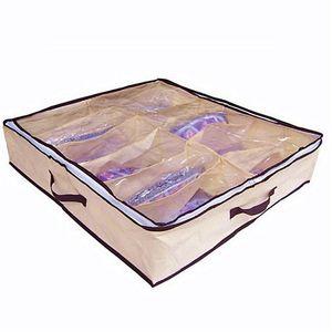 Высокое качество дома Новый нетканый материал пылезащитный 12 пар обувь для хранения организатор держатель обуви организатор сумка коробка под кроватью шкаф
