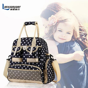 Fashion Wholesale-New Baby Diaper Bag Shoulders Mother Stroller Baby Backpack Bag Bag Nappy Multifunctional Baby Changing Diaper Matern Foqa