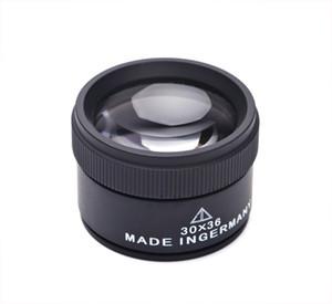 Negro 30 X 36 mm joyero óptico lupas lupa herramienta de aumento lente de vidrio microscopio reloj herramienta de reparación